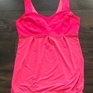 Lululemon Athletica Pink Tank Top w/ Drawstring 8